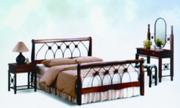 Продам кровать+ортопедипедический матрац+плед с подушками красного цв.