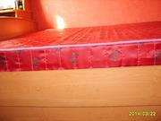 Кровать 2-х спальная,  шкаф бельевой. цвет ольха. В отличном состоянии
