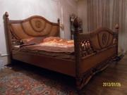 ротанговая шикарная 2х сп. кровать